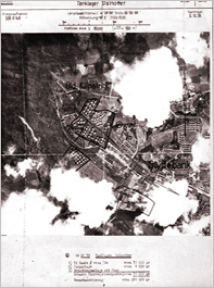 Luftwaffe reconnaissance photograph Dalnottar Oil Tanks